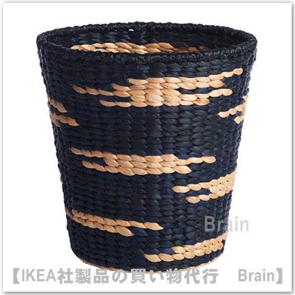 VIKTIGT:バスケット36 cm(ブラック/ナチュラル)