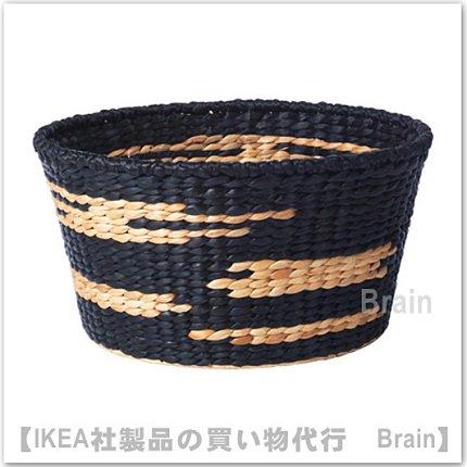 VIKTIGT:バスケット50 cm(ブラック/ナチュラル)