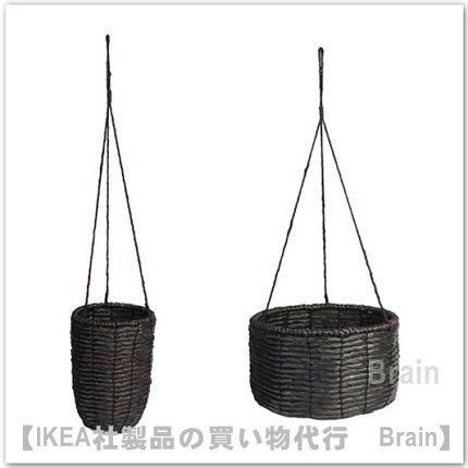 VIKTIGT:ハンギングプランター2個セット(ブラック)