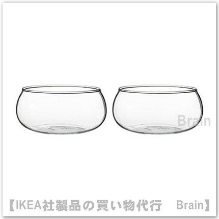 VIKTIGT:ボウル13 cm(クリアガラス)2個セット