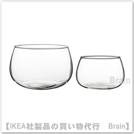 VIKTIGT:ボウル(クリアガラス)2個セット