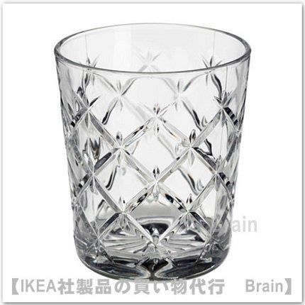FLIMRA:グラス9.9 cm(クリアガラス/模様入り)