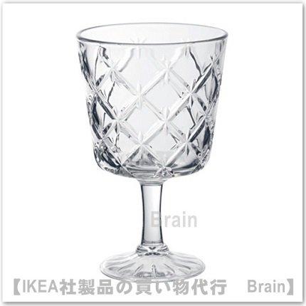 FLIMRA:ワイングラス13.7 cm(クリアガラス/模様入り)