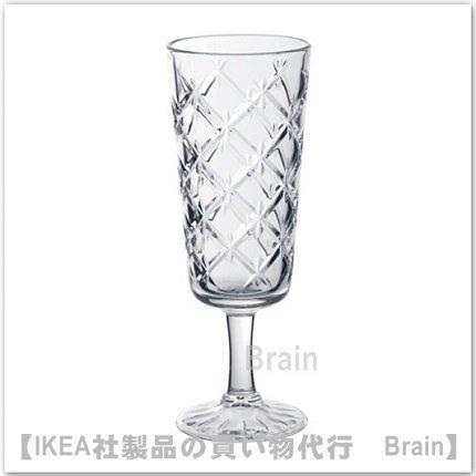 FLIMRA:シャンパングラス17.4 cm(クリアガラス/模様入り)