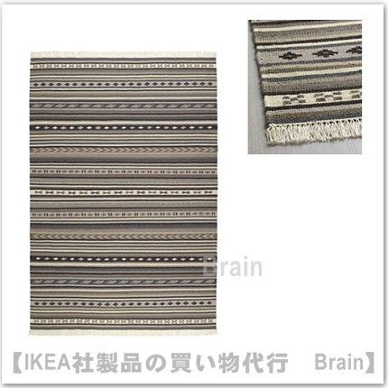 KATTRUP:ラグ 平織り140×200 cm(グレー)
