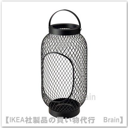 TOPPIG:ブロックキャンドル用ランタン36 cm(ブラック)