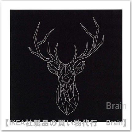 PJÄTTERYD :アート /56x56 cm(銀色の鹿)
