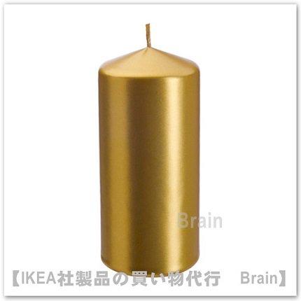 VINTER 2016:香りなしブロックキャンドル15 cm(ゴールドカラー)