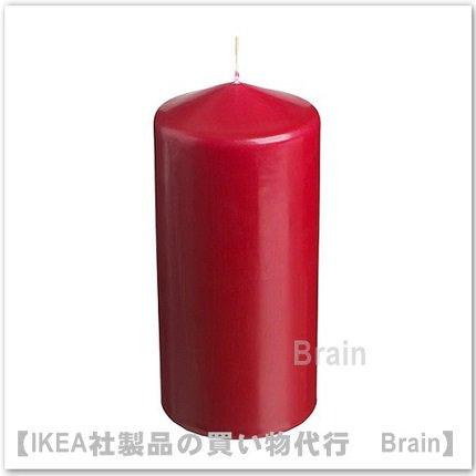 FENOMEN:香りなしブロックキャンドル15 cm(レッド)