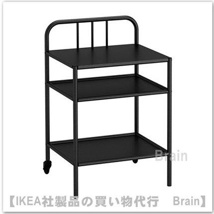 FYRESDAL:ベッドサイドテーブル(ブラック)