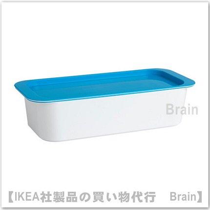 GESSAN:ふた付きボックス(ホワイト/ブルー)