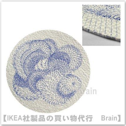 IKEA PS 2017:ラグ パイル短230 cm(ホワイト/ブルー)