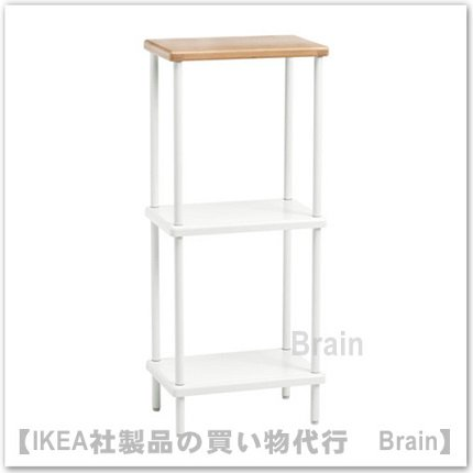 DYNAN:シュルフユニット40x27x96 cm(ホワイト/竹模様)