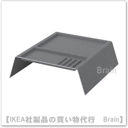 KALLAX:収納 仕切り付き41×38×12 cm(ダークグレー)