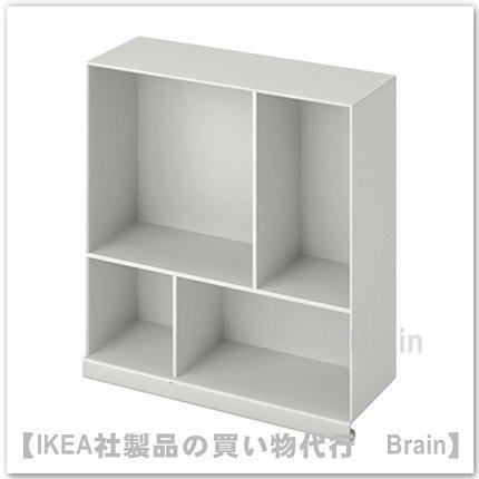 KALLAX:シェルフインサート33×12×35 cm(ライトグレー)