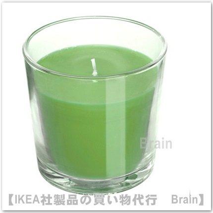 SINNLIG:香り付きキャンドル グラス入り7.5 cm(リンゴ&洋ナシ/グリーン)
