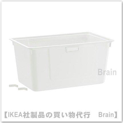 ALGOT:ボックス38×60×29�(ホワイト)