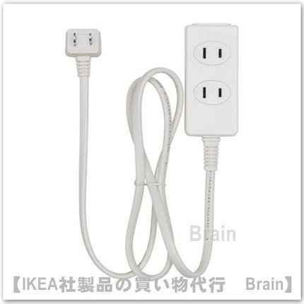 KOPPLA:電源タップ1 m 3個口/アース無(ホワイト)