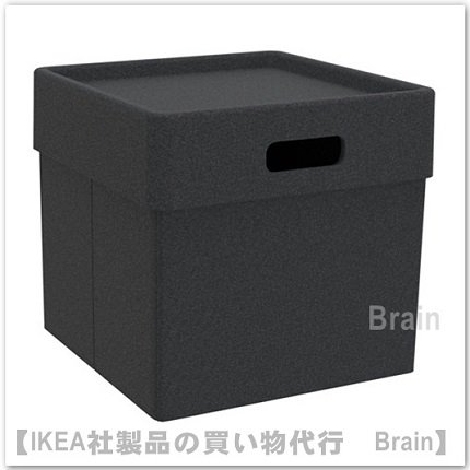 EKET:ボックス31x31x29 cm(ダークグレー)