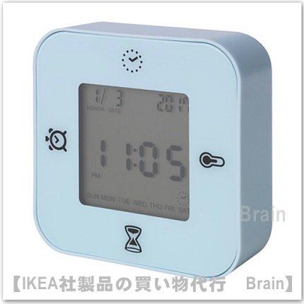 KLOCKIS :時計/ 温度計/アラーム/タイマー(ライトブルー)