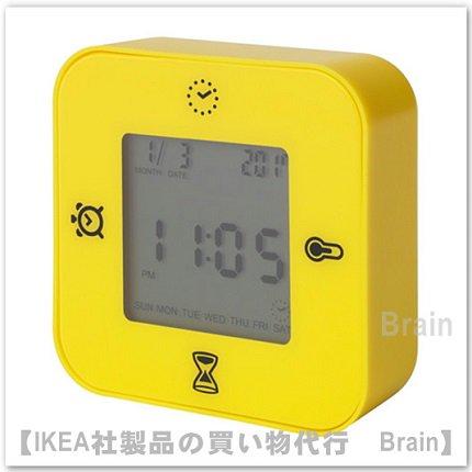 KLOCKIS :時計/ 温度計/アラーム/タイマー(イエロー)