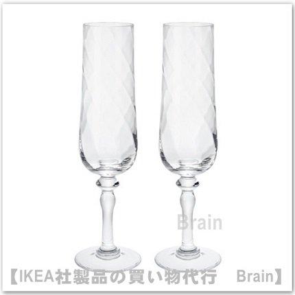 KONUNGSLIG:シャンパングラス24.5 cm【2個セット】(クリアガラス)