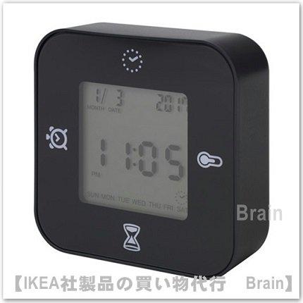 KLOCKIS :時計/ 温度計/アラーム/タイマー(ブラック)