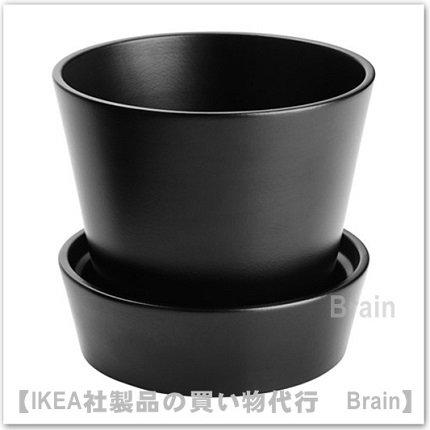 SENAP:植木鉢 受け皿付12㎝(ブラック)