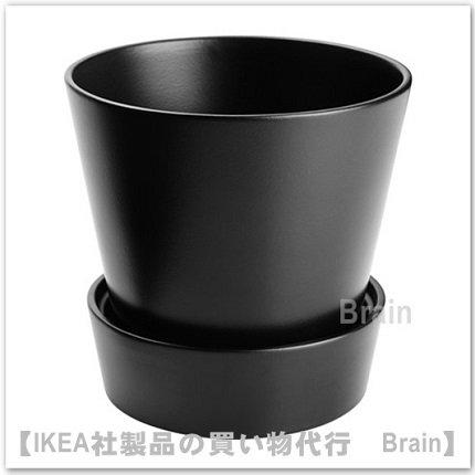 SENAP:植木鉢 受け皿付15�(ブラック)