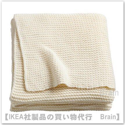 INGABRITTA:ひざ掛け130x170 cm(オフホワイト)