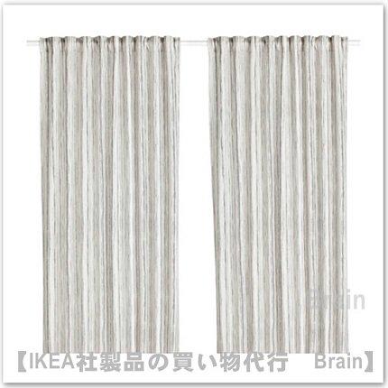 DAGRUN:カーテン1組145x250 cm(ホワイト/グレー)