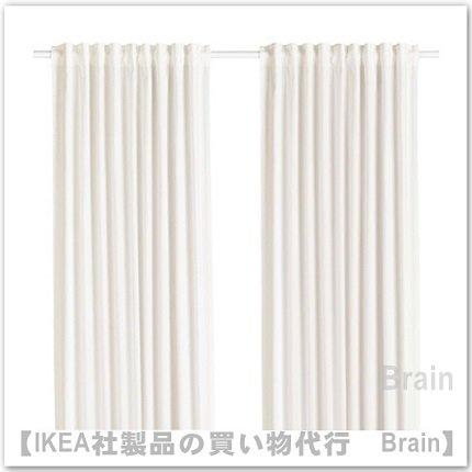 MILDRID:カーテン1組145x250 cm(ホワイト)