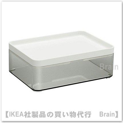 BROGRUND:ボックス(透明グレー/ホワイト)