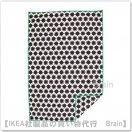 LURVIG:毛布100x150 cm(ブラック/ホワイト)