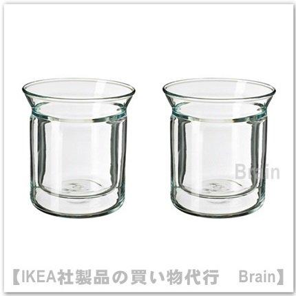 AVRUNDAD:カップ/ダブルウォール(クリアガラス)【2個セット】
