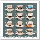 EDELVIK:ポスター50x50 cm(コーヒーカップ 1)