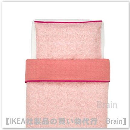 KLÄMMIG:掛け布団カバー/ 枕カバー ベビーベッド用110x125/35x55 cm(レッド)