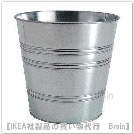 SOCKER:鉢カバー32 cm(亜鉛メッキ)