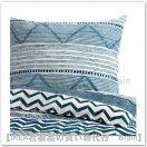 PROVINSROS:掛け布団カバー&枕カバー(ホワイト/ブルー)【各サイズから選べます】