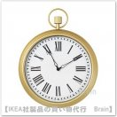 <img class='new_mark_img1' src='//img.shop-pro.jp/img/new/icons8.gif' style='border:none;display:inline;margin:0px;padding:0px;width:auto;' />OMEDELBAR:ウォールクロック45 cm(メタル アンティーク調)