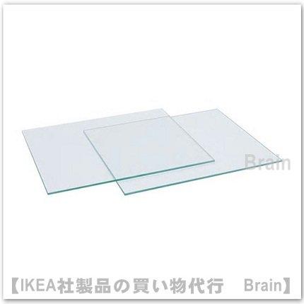 KALLAX:ガラス製棚板33x38 cm【2枚セット】(ガラス)
