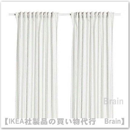 EBBALISA:カーテン1組145x250 cm(ホワイト/ブラック)