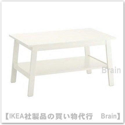 LUNNARP:コーヒーテーブル90x55 cm(ホワイト)