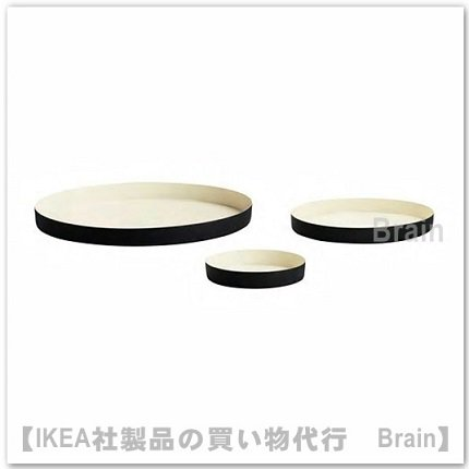 GLITTRIG:キャンドル皿【3個セット】(アイボリー/ブラック)