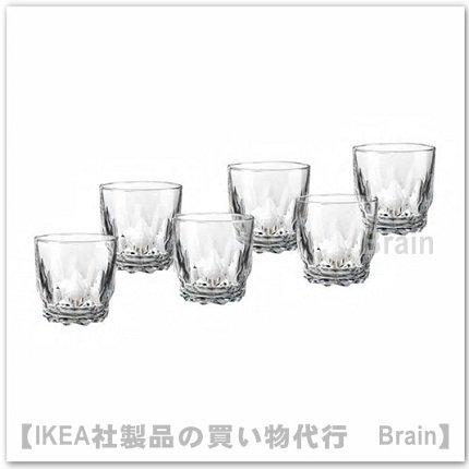 SMAKMÄSSIG:グラス8 cm【6個セット】(模様入り)