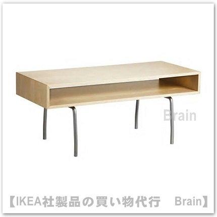 IKEA PS 1995:コーヒーテーブル115x50 cm(バーチ ホワイト)