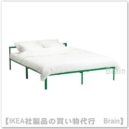 GRIMSBU:ベッドフレーム140x200 cm(グリーン)
