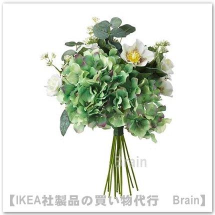 SMYCKA:造花のブーケ35 cm(ホワイト)