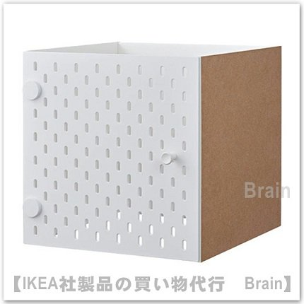 KALLAX:インサート 有孔ボード付き扉33x33 cm(ホワイト)