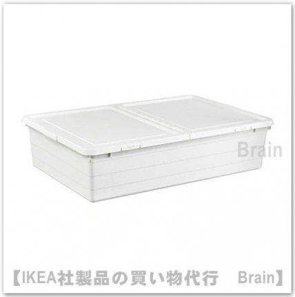 SOCKERBIT :収納ボックス ふた付き50x77x19 cm(ホワイト)